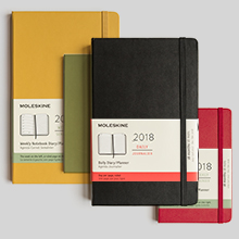 Moleskine 12 month diaries 2018